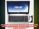 Asus X550CA 15.6-inch Laptop (Dark Grey) - (Intel Core i3 1.8GHz 6GB RAM 1TB HDD DVDSM DL LAN