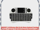 ANDROSET 2.4GHz Mini Wireless Fly Air Mouse 92-key Keyboard (2.4G Wireless Mouse Keyboard White