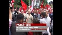 Yüzlerce yurttaş Bursa'dan meydan okuyor. Ulusal Kanal canlı yayın yayınlıyor!