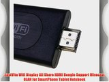 EastVita Wifi Display All Share HDMI Dongle Support Miracast DLAN for SmartPhone Tablet Notebook
