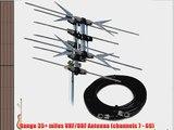 Solid Signal Xtreme Signal HD1080X 2-Bay Bowtie UHF and High Band VHF TV Antenna 35 Miles UHF/VHF