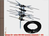 Solid Signal Xtreme Signal HD1080X 2-Bay Bowtie UHF and High Band VHF TV Antenna 35 Miles UHF/VHF