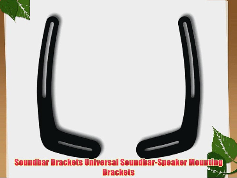 4 Pack of White Universal Speaker Wall Mount Brackets TechSol Essential TSS1-W