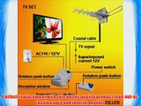 Digital HDTV Amplified Outdoor TV Television Antenna UHF VHF FM Radio Frequency Rotor w/ Remote