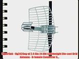 Hyperlink - Hg2424eg-nf 2.4 Ghz 24 Dbi Lightweight Die-cast Grid Antenna - N-female Connector