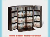 Prepac Deluxe CD Storage Rack with Locking Shaker Doors Small Espresso