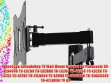 VideoSecu Articulating TV Wall Mount Bracket for Panasonic TC-32A400U TC-L32B6 TC-L32XM6 TC-L32C3