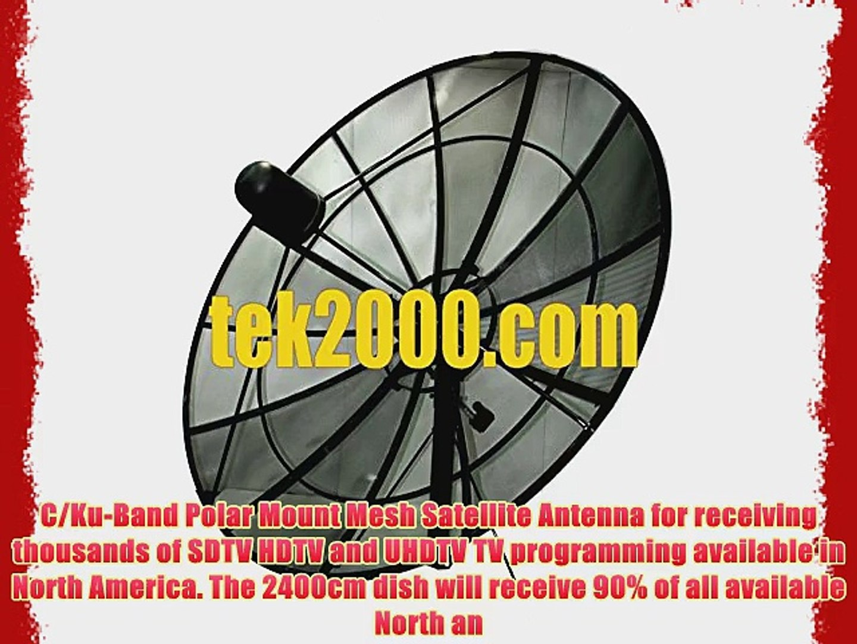 240cm (8ft) C/Ku-Band Prime Focus Mesh Satellite Dish