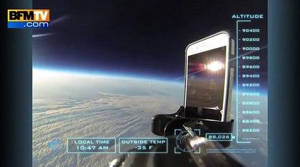 Un iPhone 6 chute depuis la stratosphère avec une protection