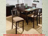 Jofran 5 Piece Counter Height Dining set in Bakers Cherry