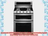 Kitchenaid KGRS505XWH 30Inch 5Burner Freestanding Double Oven Range with EvenHeat Convection