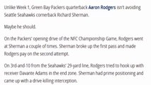 Richard Sherman Makes Great Play to Pick Off Aaron Rodgers in End Zone - Packers vs Seahawks.