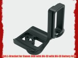 Kirk L-Bracket for Canon 60D with BG-E9 with BG-E9 Battery Grip