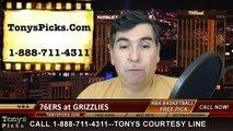 Philadelphia 76ers vs. Memphis Grizzlies Free Pick Prediction NBA Pro Basketball Odds Preview 1-24-2015