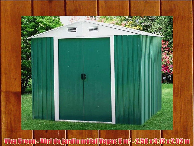 Abri De Jardin Composite viva green - abri de jardin m?tal vegas 8 m? - 2.58 x 3.12 x 2.02 m