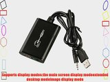Tendak USB 2.0 to HDMI Converter Cable Graphics Card Adapter with 3.5mm Audio Cable for Multiple