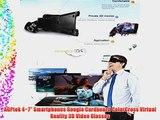 AGPtek 4~7 Smartphones Google Cardboard ColorCross Virtual Reality 3D Video Glasses