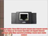 [3-Port USB 3.0   1-Port RJ45] iClever 3 Ports USB 3.0 Hub with RJ45 10/100/1000 Gigabit Ethernet
