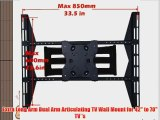Extra Long Arm Dual Arm Articulating TV Wall Mount for 42 to 70 TV 's