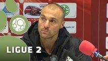 Conférence de presse Valenciennes FC - Tours FC (1-2) : Bernard  CASONI (VAFC) - Gilbert  ZOONEKYND (TOURS) - 2014/2015