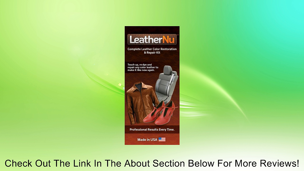 Leathernu Complete Leather Color Restoration & Repair Kit Review