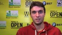 TENNIS - ATP - Metz - Simon : «Je ne m'attendais pas à si bien jouer»