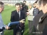 Nicolas Sarkozy à l'Olympique Lyonnais