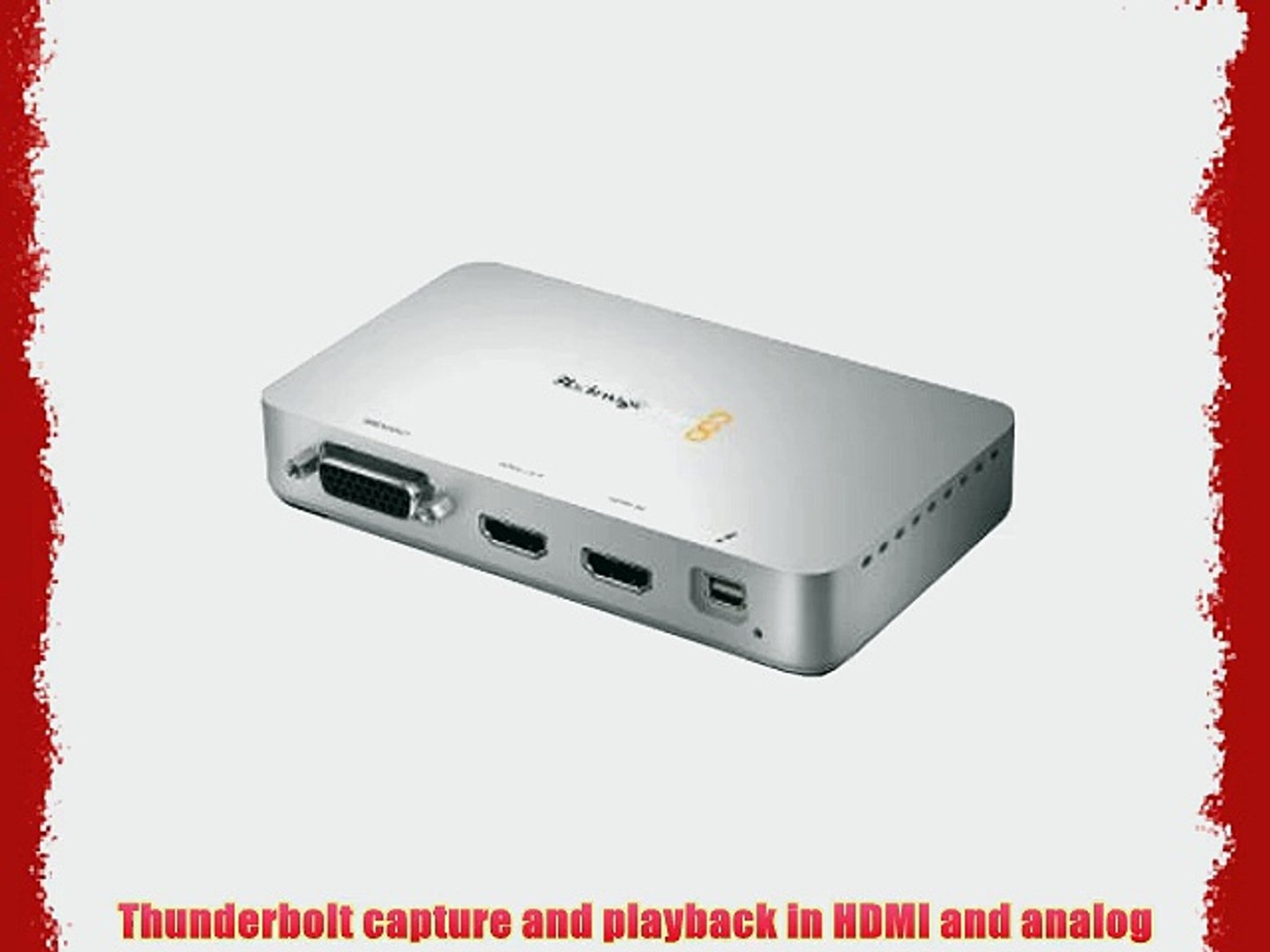 Blackmagic Design Intensity Extreme Hdmi And Analog Capture Video Dailymotion