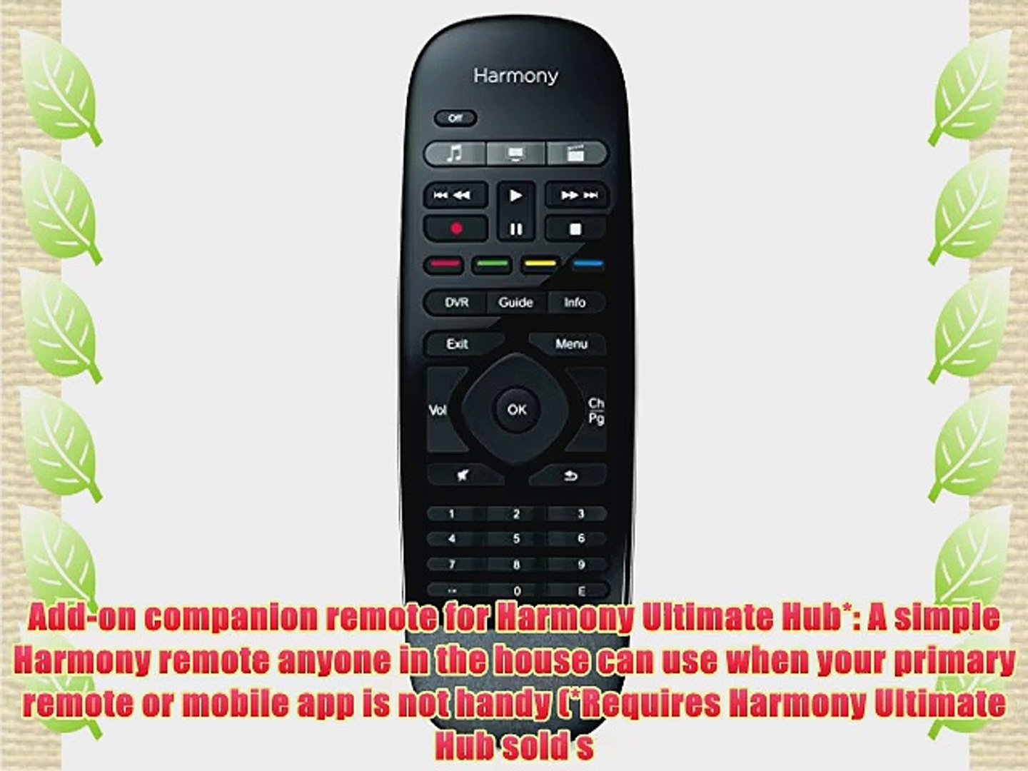Logitech Harmony Smart Control Add-On Companion Remote for Harmony Ultimate  Hub (915-000245)