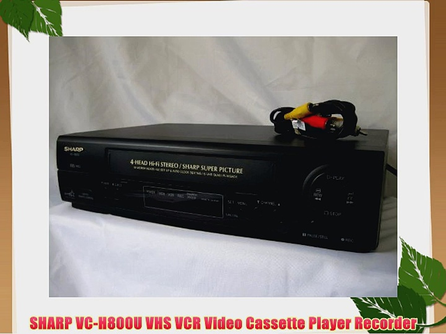 SHARP VC-H800U VHS VCR Video Cassette Player Recorder