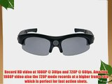 iVUE Horizon 1080P HD Camera Glasses Video Recording Sport Sunglasses DVR Eyewear (1080P @
