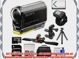 Sony Action Cam HDR-AS30V 1080p Wi-Fi HD Video Camera Camcorder with RM-LVR1 Live View Remote