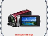 Sony HDR-CX210 High Definition Handycam 5.3 MP Camcorder with 25x Optical Zoom (Red) (2012