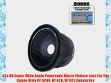 .42x HD Super Wide Angle Panoramic Macro Fisheye Lens For The Canon Vixia HF R200 HF R20 HF