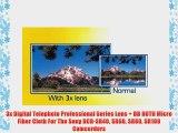 3x Digital Telephoto Professional Series Lens   DB ROTH Micro Fiber Cloth For The Sony DCR-SR40