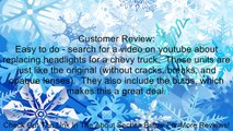 Chevy GMC Pickup Sierra Silverado replacement headlights with bulbs Review