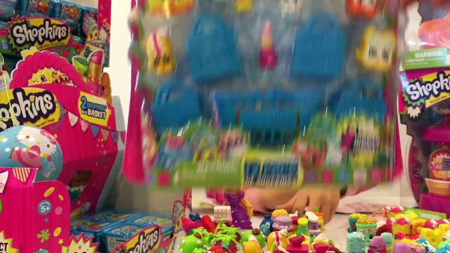 Shopkins Mystery Blind Bag Basket Opening - Day 24 - Fruit & Veg / Bakery Stand Unboxing Toy Vid
