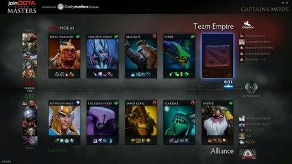 The Alliance vs Team Empire Game 2 - joinDOTA Masters @TobiWanDOTA @RyuUboruZDotA