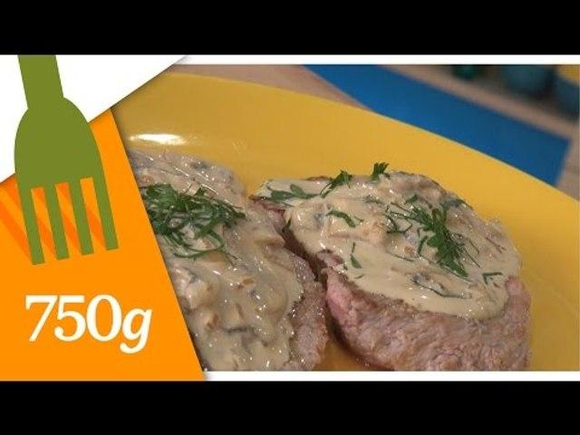 Recette des Escalopes de veau à la crème- 750 Grammes