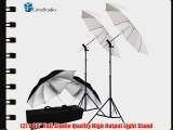 LimoStudio Photography Photo Video Studio Umbrella Flash Mount Hot Shoe Kit - 2xWhite Umbrella