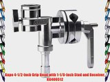 Kupo 4-1/2-Inch Grip Head with 1-1/8-Inch Stud and Receiver KG400512