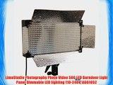 LimoStudio Photography Photo Video 500 LED Barndoor Light Panel Dimmable LED lighting 110-240V