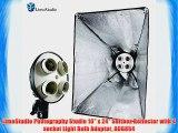 LimoStudio Photography Studio 16 x 24 Softbox Reflector with 4 socket Light Bulb Adaptor AGG854
