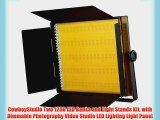 CowboyStudio Two 1200 LED Banks and Light Stands Kit with Dimmable Photography Video Studio
