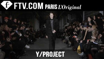 Y/Project Men Fall/Winter 2015-16 | Paris Men's Fashion Week | FashionTV