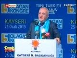 Ak Parti Kayseri 5. Olağan İl Kongresi Kayseri Büyükşehir Belediye Başkanı Mehmet Özhaseki, Grup Başkanvekili Mustafa Elitaş