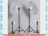 ePhoto Dk4 1000 Watt Continuous Fluorescent Lighting Kit with Carry Bag with 2 each 7 Foot