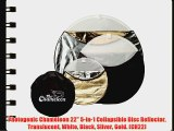 Photogenic Chameleon 22 5-in-1 Collapsible Disc Reflector Translucent White Black Silver Gold.