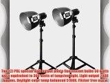 PBL Photo Lighting Table Top Kit New High Output Bulbs 500 Watts By PBL