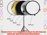 Fotodiox Pro 32 5-in-1 Collapsible Reflector Kit with Stand and Holder Arm Silver/Gold/Black/White/Diffuser
